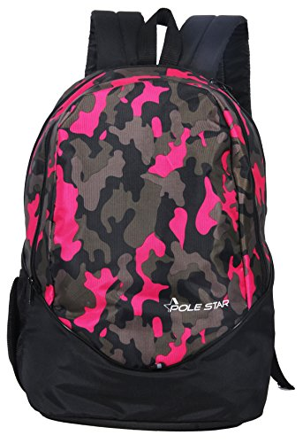 Polestar Ranger 30 L Black/Pink Casual Backpack bag with laptop compartment