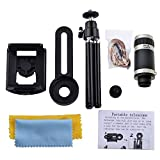 #8: Inditradition 8X Optical Zoom Telescope Mobile Camera Lens Kit With Tripod & Adjustable Holder, Black