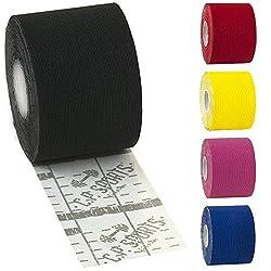 C.P. Sports Sporttape Flexibel Kinesiologie Tape 5cm x 5m wasserfest, atmungsaktiv rot 1x5m