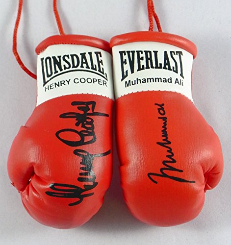 Muhammad Ali V Henry Cooper Signiert Mini Boxhandschuhe Ali Boxhandschuhe