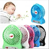 MLD® Mini Portable Usb Rechargeable 3 Speed Fan Powered By Usb & Battery Use Of Car/Home/Office(Multicolor)