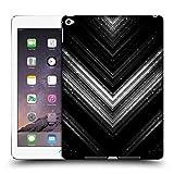 Head Case Designs Offizielle PLdesign Silber Glitzerndes Metall Ruckseite Hülle für iPad Air 2 (2014)