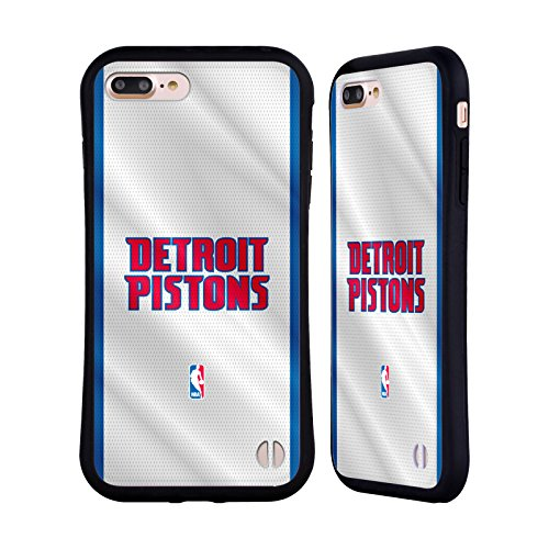 Ufficiale NBA Camouflage Digitale Detroit Pistons Case Ibrida per Apple iPhone 7 / iPhone 8 Maglia