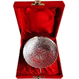 [Sponsored Products]Brass Gift Center Silver Lacquered Decorative Bowl Brass Bowl (Silver)