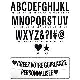 Youdoit Guirlande de Lettres à Composer - Noir