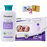 Himalaya Herbals Baby Lotion (200ml)+Himalaya Herbals Soothing Baby Wipes (24 Sheets) With Happy Baby Luxurious Kids Soap With Toy (100gm)