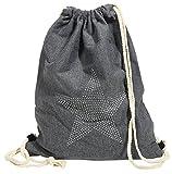 Akzent Damen Turnbeutel Gym Bag Rucksack Grau Modern 40x32x35 cm - 3600019-001