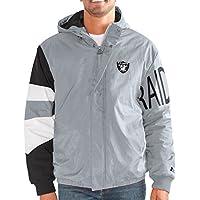 """Oakland Raiders NFL Men's Starter """"Knockdown"""" Full Zip Premium Hooded Jacket"""
