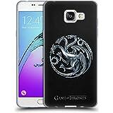 Officiel HBO Game Of Thrones Silver Targaryen Symboles Étui Coque en Gel molle pour Samsung Galaxy A5 (2016)
