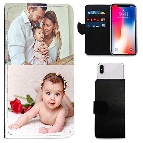 i-Tronixs Schutzhülle/Brieftaschen-Hülle für Mobiltelefone (15,2 cm / 15,2 cm), personalisierbar, mit Foto und Chrom-Schlüsselanhänger, BlackBerry Aurora (5.5