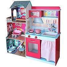 Juguete 2 en 1 casa de muñecas y cocina