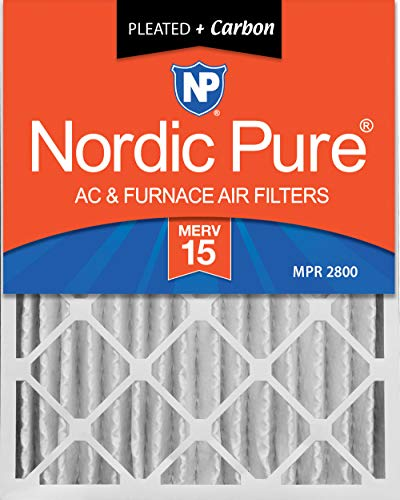 Nordic Pure Merv 15 Plus Carbon AC Ofen Air Filter Menge: 1 16x20x4M (Ac-filter 16x16x1)