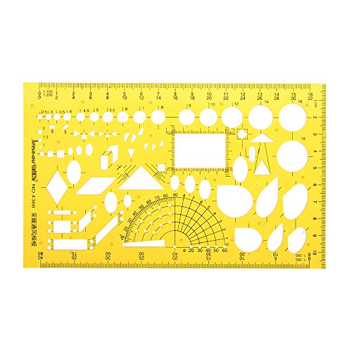MYAMIA Heizungs Lüftung Klimaanlage Entwurf Design Zeichnung Schablone Kt Weiche Plastifc-Lineal-Schablone