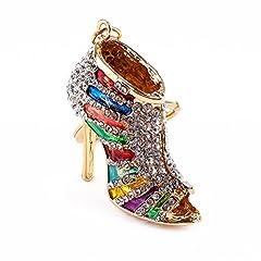Idea Regalo - Portachiavi con portachiavi in   cristallo con strass Portachiavi con portachiavi in   cristallo multicolore Unico donna