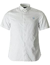 Fred Perry - Chemise blanche pour homme Fred Perry Polka