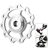 Naisicatar Jockey Wheel Rear Derailleur Pulley with Alluminum Alloy Material CNC 11T For SHIMANO SRAM/7/8/9/10speed Silver