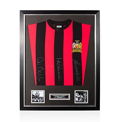 Framed-Manchester-City-Shirt-Signed-By-Bell-Summerbee-Lee-1969-FA-Cup-Winners