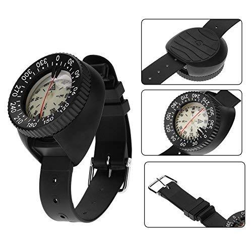 Tonysa Touch Kompass mit Armband Halterung,Wasserdichter Kompass,Tragbarer Mini Professional Tauchkompass für Unterwasserhöhlen/Camping/Wandern/Radfahren/Jagen usw.