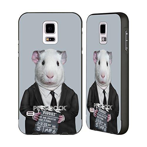 Head Case Designs Offizielle Pets Rock Direktor Prominente Schwarz Rahmen Hülle mit Bumper aus Aluminium für Samsung Galaxy S5/S5 Neo (Rahmen Direktoren Schwarzer)