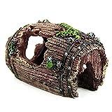 BeautyG Pesce serbatoio acquario caverna resina rotto canna ornamento paesaggio decorazione (marrone)