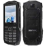 Blackview BV1000 - Teléfono Móvil Dual SIM de 2.4' (Batería 3000mAh, 32MB RAM, 32MB ROM, Cámara 0.3MP, gsm, Radio FM/Bluetooth/Teclas Grandes/Linterna LED/MP4/SOS) Movil para Mayores-Negro (EU)