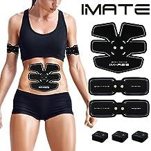 IMATE EMS - estimulador muscular abdominal, cinturón de tonificación, tóner muscular, entrenamiento abdominal