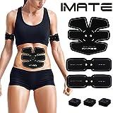IMATE EMS - estimulador muscular abdominal, cinturón de tonificación, tóner muscular, entrenamiento abdominal, cinturón de apoyo, gimnasio, entrenamiento, máquina de ejercicio, fitness para casa y oficina