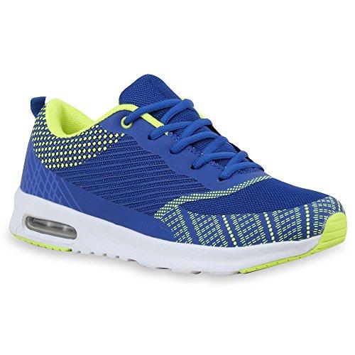 Herren Laufschuhe Sneakers Runners Sportschuhe Lack Blau Cabanas