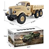 ❤️ Remote Control Car, JJRC Q60 RC 1:16 + Two Battery 2.4G 6WD Tracked Off-Road Military Trucks RTR Toys Gift For Kids Adults By GreatestPAK (Yellow)