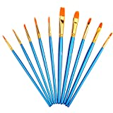 10 Pieces Artist Paint Brushes Set Art Painting Supplies for Acrylic and Oil Painting