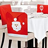 Sedia da pranzo Ebuygb covers-christmas Xmas party cena decorazione x 6, feltro, Santa Face, 32.99 x 22.81 x 11.2 cm