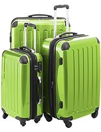 Maleta Principal Ciudad 42, 74& 119L o 3Unidades en verde manzana con o sin Candado TSA) Incluye Bolsa de aseo