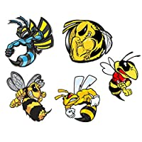 ULTNICE Stickers for Save The Bees Honey Bee Decal Vinyl Waterproof Stickers Skateboard Guitar Travel Case Sticker Laptop Luggage Car Bike Bicycle Helmet Stickers 5Pcs