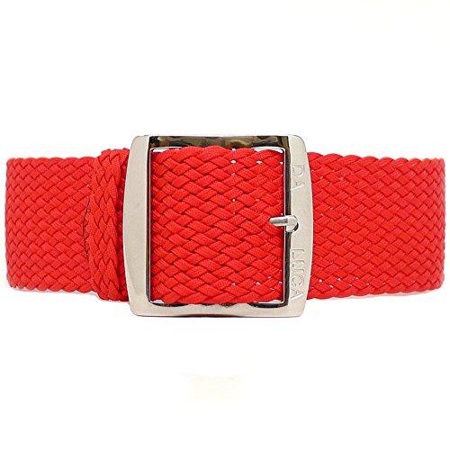 daluca-uhrenarmband-geflochtenes-nylon-perlon-polierte-schnalle-20-mm-rot