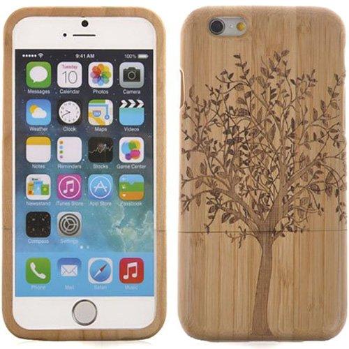Semoss naturale cover protettivo albero custodia in bambu fatta a mano bumper cover rigida per iphone 7 wood bamboo case cover realizzata a mano