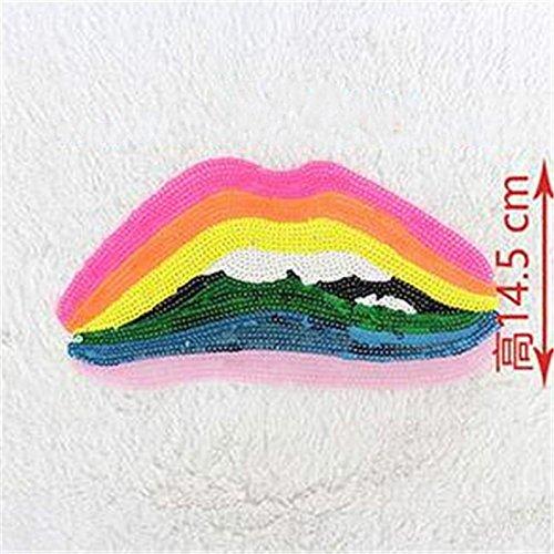 BIGBOBA DIY Regenbogen Pailletten, Personalisierte Mädchen Kostüm Patch Dekoration, Stickerei Patches Aufbügeln Oder Nähen Auf Patches Applique (Kostüm Diy Für Mädchen)