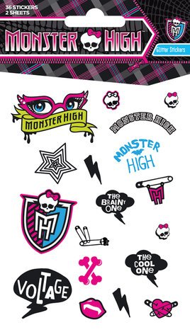 Monster High Glitter Stickers Monster High Sticker