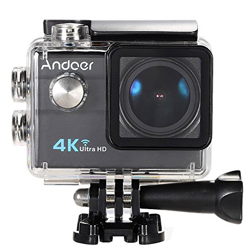 Action cam andoer act cam 4k action camera wifi 1080 hd sport camera 16mp impermeabile (nero)
