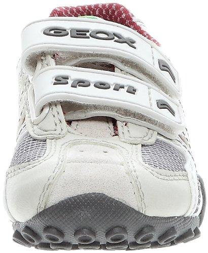 Geox Baby Snake Boy Mesh, Baskets mode mixte bébé Blanc/gris clair