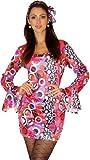 Maylynn 12240-L - Hippie Kostüm Candy 60er 70er Jahre, Größe L circa 40 42