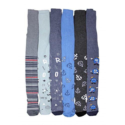 TupTam Baby Jungen Strickstrumpfhose 6er Pack, Farbe: Farbenmix 5, Größe: 92-98