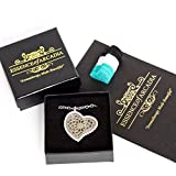 Essence Of Arcadia Heart Shaped Luxury Aromatherapy And Essential Oils Diffuser Necklace Gift Set With Gems, Includes Pads And Gift Box.The Ideal Locket Gift Set For Women