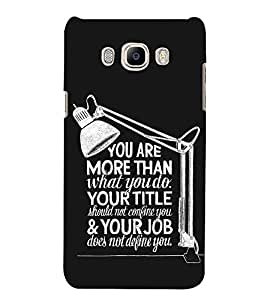 Fuson Designer Back Case Cover for Samsung Galaxy On Nxt (2016) (You Are More Than What You Do)
