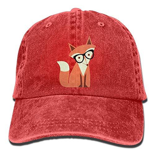 Wdskbg Justierbare Denim-Gewebe-Baseballmützen der niedlichen Karikatur-Hipster-Fox-Kappe - Niedlichen Affen Kostüm Frauen