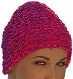 Fashy Damen Badehaube Rüschen, pink, 3448