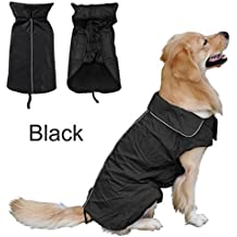 Chubasquero impermeable para perro, chaqueta reflectante de seguridad nocturna con capucha, forro polar para el pecho, protector de mascota, perro, ropa al aire libre, ropa de invierno cálido para perros pequeños y grandes