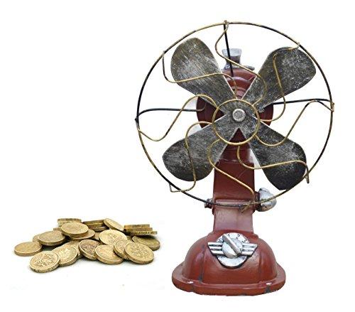 Nuevo Retro ventilador rojo caja de dinero (us037)