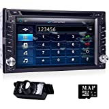 6.2doble 2din HD estéreo del coche CD reproductor de DVD GPS Navigation Radio Bluetooth + Mapa de EE. UU. tarjeta + 3G Module
