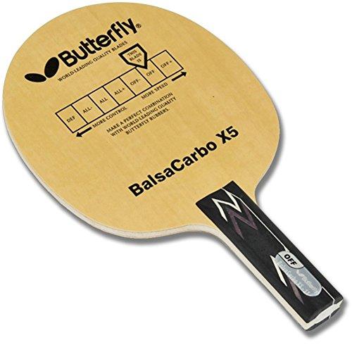 Preisvergleich Produktbild Butterfly Balsa Carbo X5 Table Tennis Blade_Ping Pong Blade BalsaCarbo Shake Hand Racket St Grip Type 83g