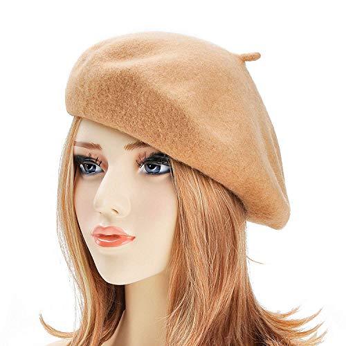 8dc24fa3d5f3c dressfan Boina Francesa para Mujeres Niñas otoño Invierno Boina Sombrero  Lana Calabaza.